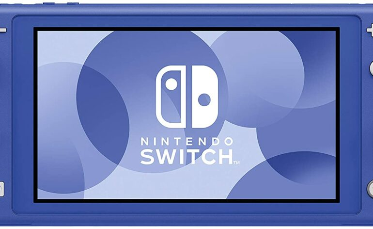 switch lite bleu foncé