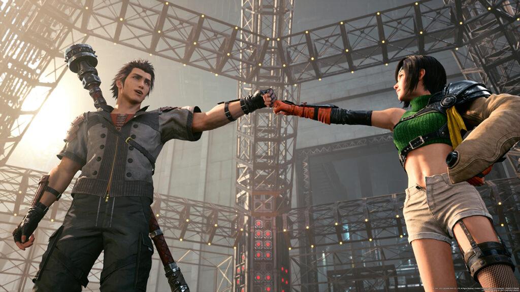 Sonon et Yuffie Final Fantasy VII Remake Intergrade
