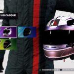 Le menu de création et sélection des casques dans F1 2021