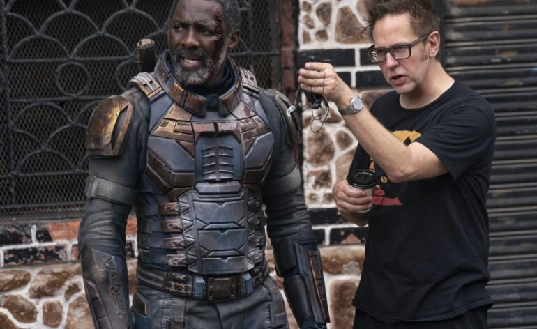 James Gunn et Idris Elba